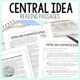Central Idea Reading Comprehension Passages and Questions for Test Prep