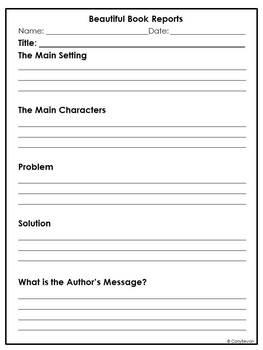 Central Lesson Book Report