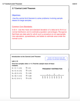 Central Limit Theorem (Lesson with Homework)