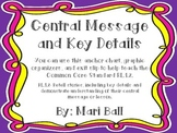 Central Message Anchor Chart, Graphic Organizer, Exit Slip