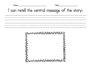 Central Message Graphic Organizer