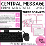 Central Message Game | Central Message Activity | Central Message Center