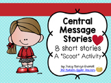 Central Message Scoot or Center Activity with 8 Short Stor
