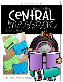 Central Message Task Cards (Differentiated)