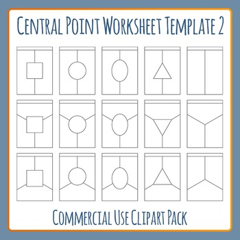 Central Point Worksheet Template 2 Clip Art Set for Commercial Use