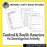 Central & South America Investigation Activity
