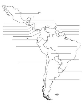 Central & South American Map Practice
