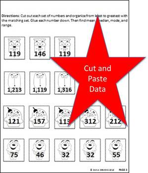 Central Tendency Cut and Paste Quiz