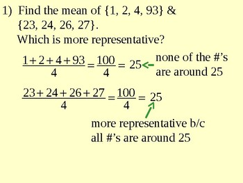 Central Tendency - Median, Mode and Mean