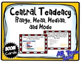 Central Tendency - Range, Mean, Medan, and Mode Boom Cards