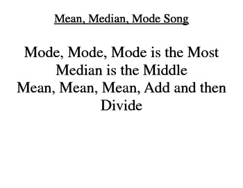 Central Tendency Song
