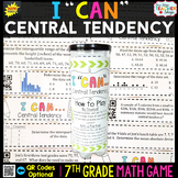7th Grade Central Tendency and Variability of Data Game