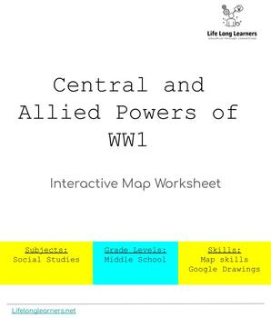 Central and Allied Powers Interactive Digital Map Worksheet   TpT on