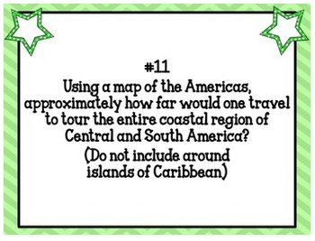 Central and South America Geography Task Cards Activity Latin American