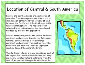 Central and South America Overview Interactive Lecture Notes Latin America