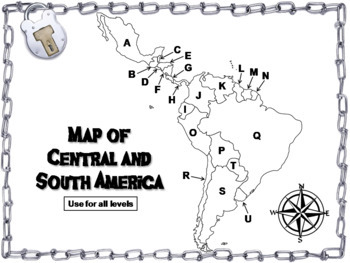 Central and South America: Social Studies Escape Room Geography