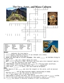 Central and South American Empires (Aztec, Inca, Maya) Crossword or Web Quest