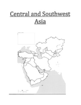 Blank Southwest Asia Map.Central And Southwest Asia Map Blank By Pointer Education Tpt