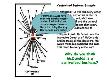 Centralisation (Centralised) & Decentralisation (Decentralised) Business Growth