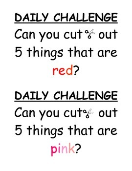 Centre - Daily Challenge Activity (Numbers, Letters, Colours)