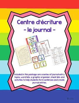 Centre d'écriture pour le journal - Journal Writing Centre in French