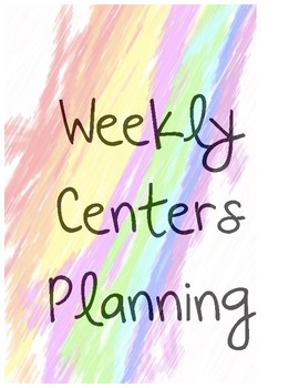 Centres Planning Pack