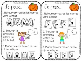 Centres d'apprentissage  (FRENCH Halloween centres)