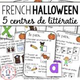 Centres d'apprentissage pour la maternelle (FRENCH Halloween centres)