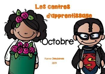 Centres d'apprentissage du mois d'octobre