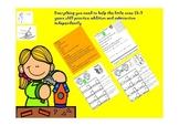 French Im. Centres de math pour pratiquer l'addition et la soustraction (0-20)