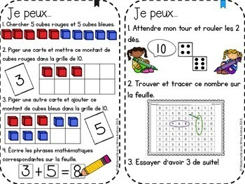 French Addition Math Centres - Addition en français!