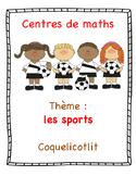 Centres de maths : les sports.