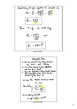 Centripetal Acceleration and Fc