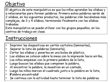"""Centro Bilingue - juego """"encuentra las palabras"""""""