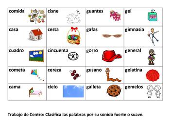 Centro: G y C Suave y Fuerte