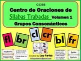 Silabas Trabadas Centro de Oraciones Palabras Vol.1 Grupos Consonanticos Partida