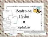Centro de Hecho u Opinión