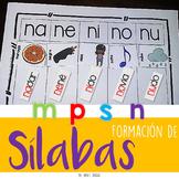 Centro de Lenguaje {Sílabas con p,m,s,n} SPANISH ONLY