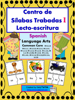 Centro de Palabras de Sílabas Trabadas Grupos Consonantico