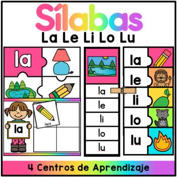 Centro de Silabas - la le li lo lu / SPANISH CENTER