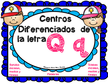 Centro de Sonidos, Sílabas  y Palabras de la Q q Qq BilingualStars Mrs. Partida