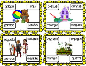 Centro De Silabas Y Palabras Gue Gui Güe Güi 7 Bilingualstarsmrs Partida