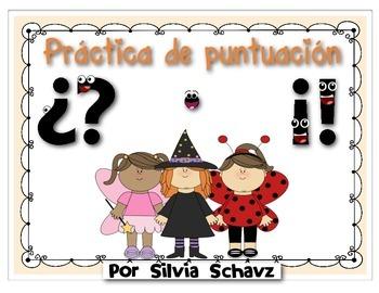 Centro de aprendizaje en español: Práctica de puntuación d