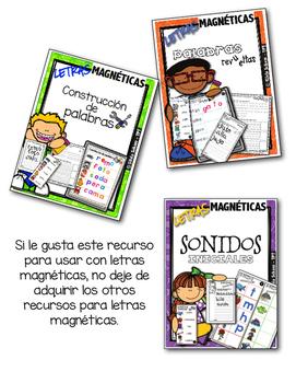 Letras magnéticas - Construyendo palabras