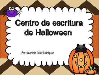 Centro de escritura de Halloween