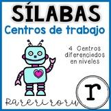 Centro de lectura español: Aprender a leer las sílabas iniciales de la letra R