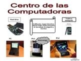 Spanish Language Literacy Center Sign: Centro de las Computadoras