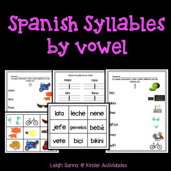Spanish Syllables Reading Center / Centro de sílabas