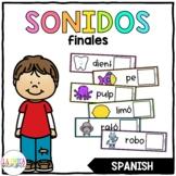 Centro de Sonidos Finales (Ending Sounds in Spanish)