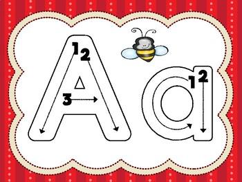 Centro de trazo del abecedario